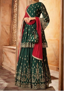 Swagat Snow White Designer Party Wear Sharara Salwar Suit