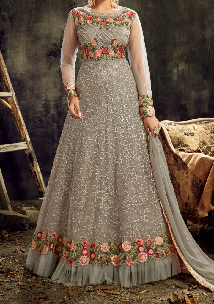 Hot Lady Sareena Designer Party Wear Anarkali Suit