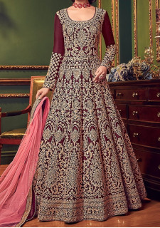 Swagat Snow White Designer Party Wear Anarkali Suit