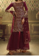 Ariya Designs Noorani Saga Party Wear Sharara Suit