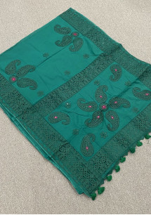 Boutique Designer Cut Work Cotton Silk Saree